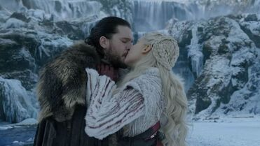 Jon e Daenerys bacio S8
