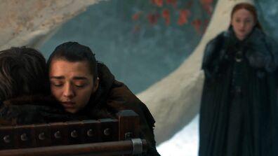 Arya e Bran reunion