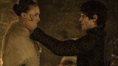 Ramsay e Sansa notte di nozze