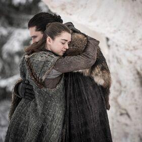 Arya e Jon reunion S8