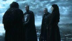 Jon snow, stannis, davos and melisandre 5x01
