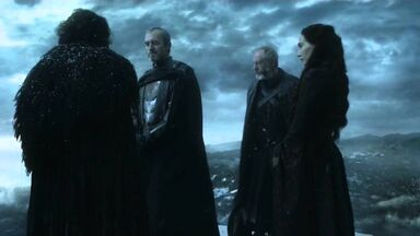 Jon snow, stannis, davos and melisandre 5x01