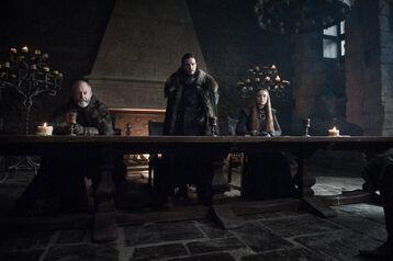 Davos Jon e Sansa
