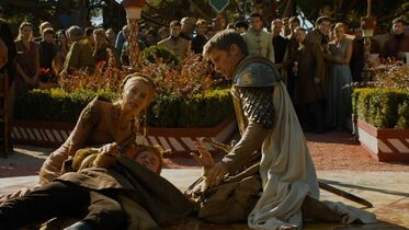 Cersei con Joffrey morente