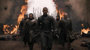 Jon, Verme Grigio e Davos entrano ad Approdo del Re