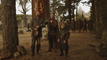 Bronn, Pod e Tyrion attendono i dorniani