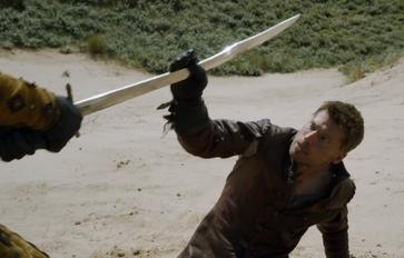Jaime blocca la spada
