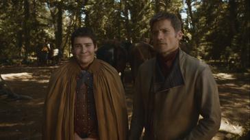 Jaime presenta Podrick a Brienne