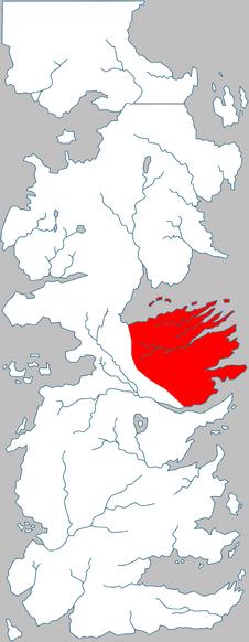 Valle di Arryn posizione