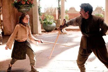 Arya e Syrio Forel