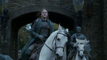 Yara arriva a Winterfell