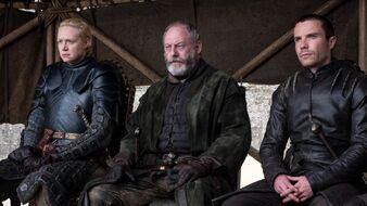 Brienne Davos Gendry Gran Concilio