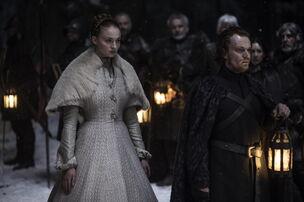 Sansa e Theon al matrimonio