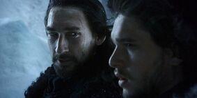 Jon snow e benjen 1x04