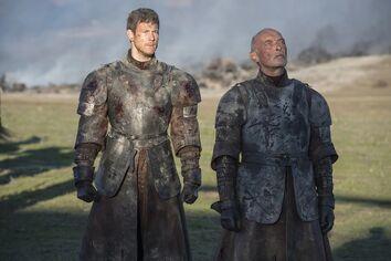 Dickon e Ranyll davanti a Drogon