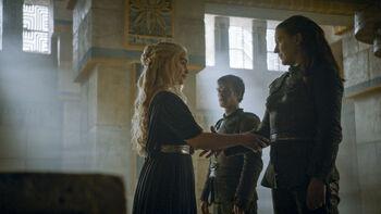 Daenerys, Theon e Yara a Meereen