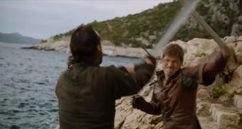 Bronn e Jaime scherma