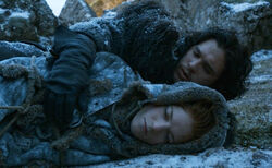Jon snow and ygritte 2x05