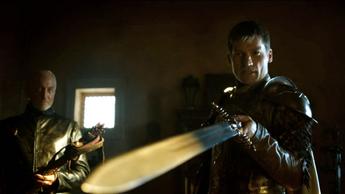 Tywin consegna a Jaime la spada