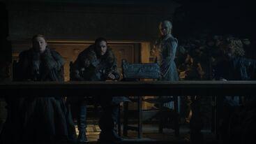 Sansa Jon Daenerys Grande Inverno