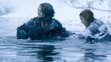 Theon Greyjoy e Sansa fiume