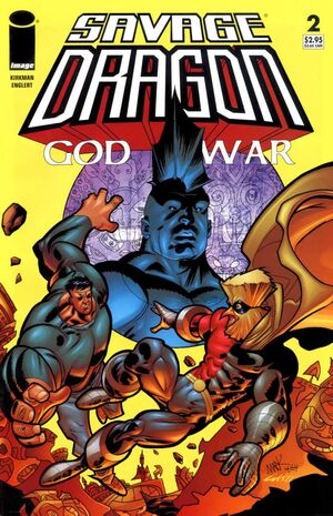 Cover for Savage Dragon: God War #2 (2005)