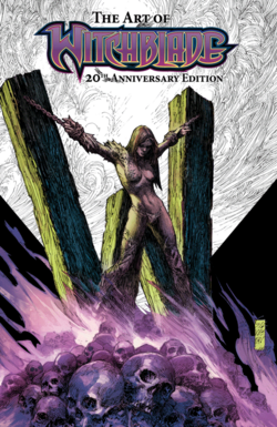 Cover for the Witchblade HC 20th Anniversary Art of Witchblade Trade Paperback