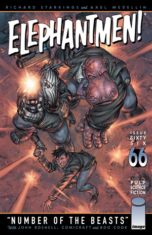 Cover for Elephantmen #66 (2015)