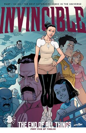 Cover for Invincible #137 (2017)