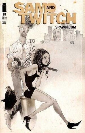 Cover for Sam and Twitch #18 (2001)