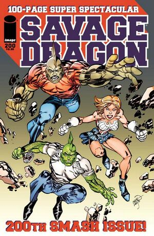 Cover for Savage Dragon #200 (2014)
