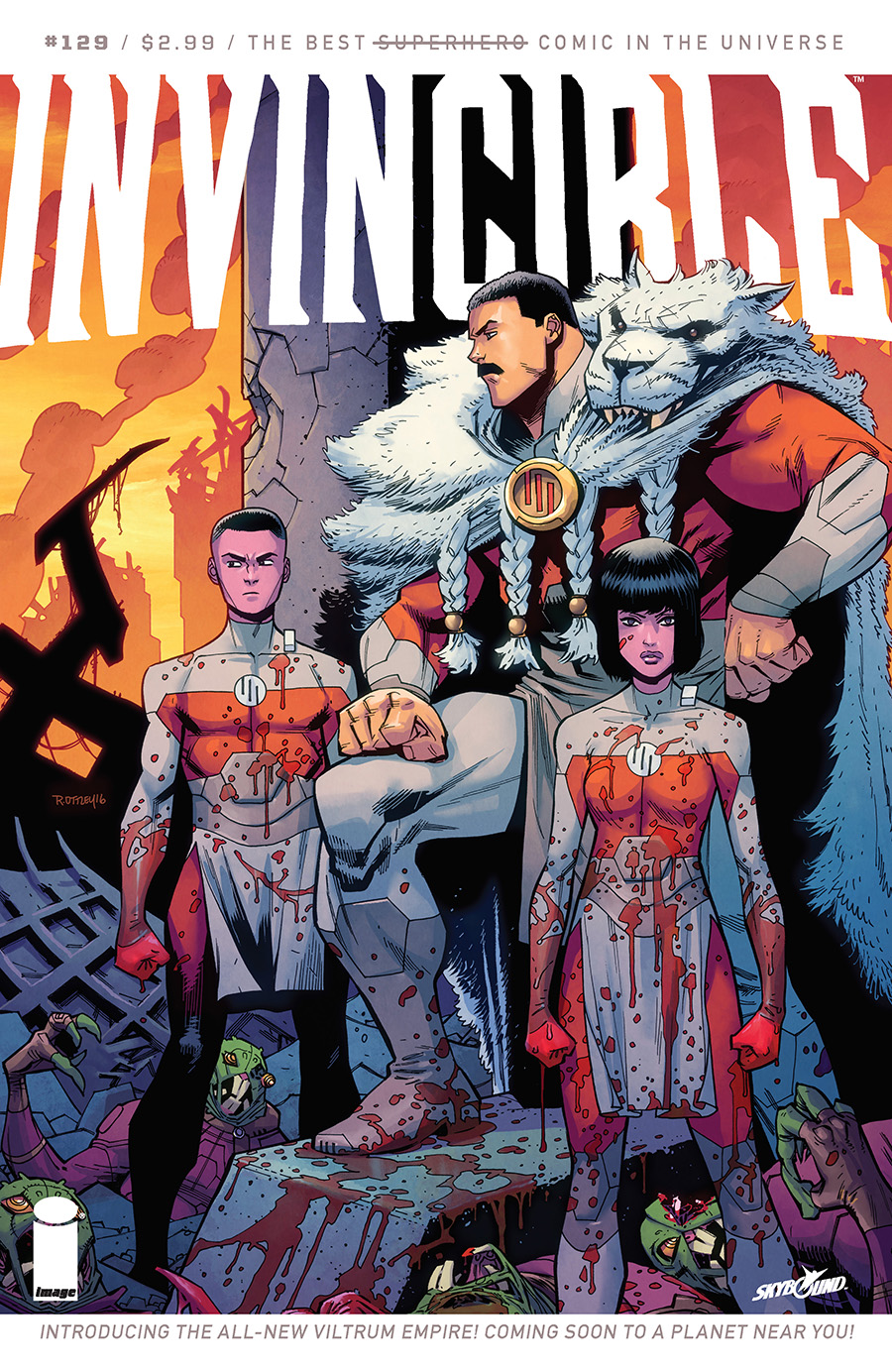 Cover for Invincible #129 (2016)