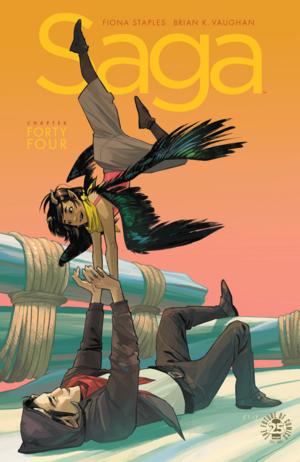 Cover for Saga #44 (2017)