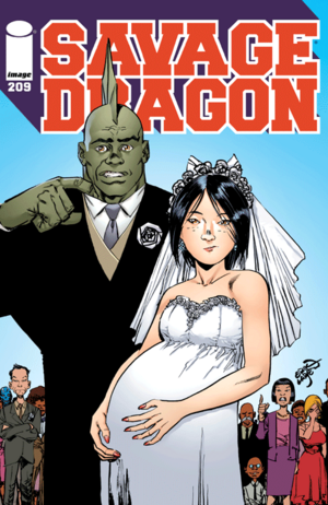 Cover for Savage Dragon #209 (2015)
