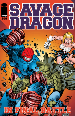 Cover for Savage Dragon #208 (2015)