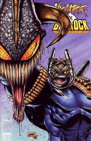 Cover for Violator vs. Badrock #4 (1995)