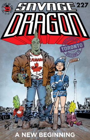 Cover for Savage Dragon #227 (2017)