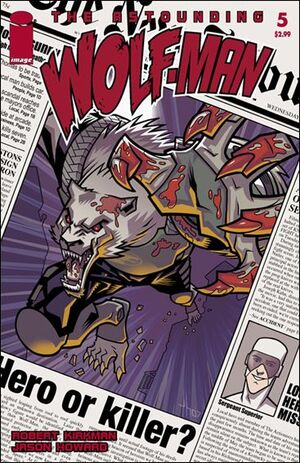 Cover for Astounding Wolf-Man #5 (2008)