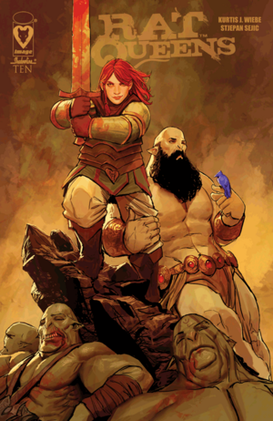 Cover for Rat Queens #10 (2015)