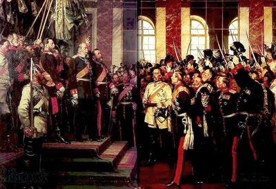 Proclamation of Holy Germanian Empire, 18 January 1871