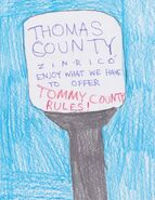 Vandalized Thomas County water tower