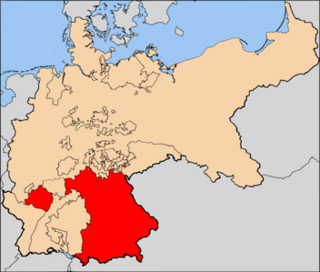 Kingdom of Bavaria, red, Holy Germanian Empire