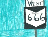 Highway shield - Zinrico 666