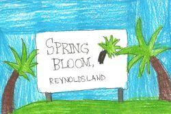 Spring Bloom sign