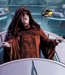 Palpatine annoucing Empire