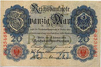 Germanian Dollar, 1914