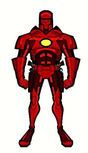 Red Armored Man