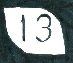 Penoshia 13 highway shield