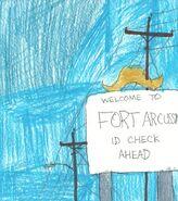 Fort Arcussin welcome, Heardonia County