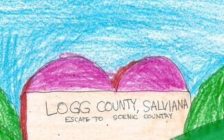Logg County welcome sign